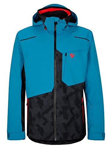 Ziener Herren Tyree Ski Snowboard-Jacke | Atmungsaktiv, Wasserdicht, Gray Ink camo, 52