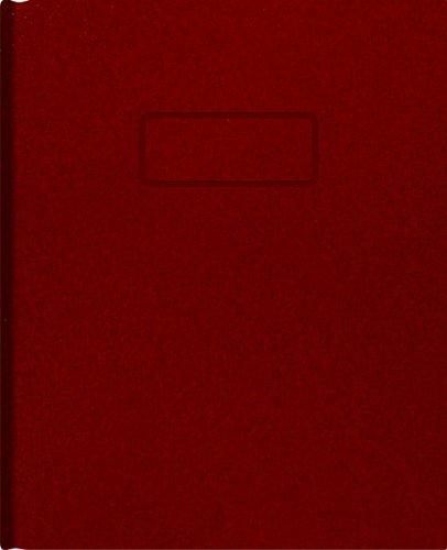 Blueline Caderno de negócios, vermelho, 23,5 cm x 18,3 cm, 192 páginas (A9.59)