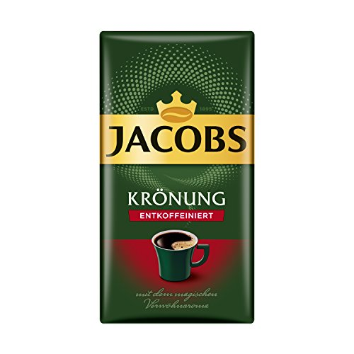 Jacobs Filterkaffee Krönung Entkoffeiniert, 500 g gemahlener Kaffee