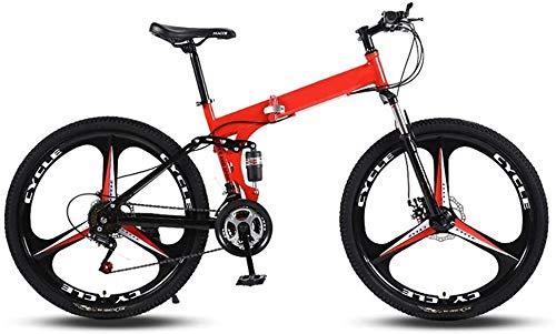 26 bicicletas de montaña plegable pulgadas Propósito Hombres Mujeres General de velocidad variable doble absorción de choque del marco de todo terreno for adultos plegable bicicletas de tres ruedas co