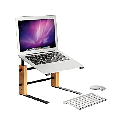 MK256A- Adjustable Bamboo Laptop Stand