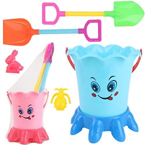 Juego de 5 juguetes de arena que incluye palas de cubo, moldes de arena y playa, juguetes para niños al aire libre