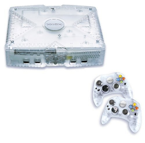 Xbox - Konsole Crystal Pack inkl. 2 Controller