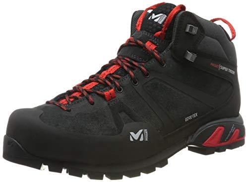 Millet - Super Trident GTX M - Chaussures Mi-hautes pour Randonnée, Alpinisme et Approche - Homme - Membrane Gore-Tex Imperméable Respirante - Semelle Vibram - Noir (Tarmac 4003), 44 EU