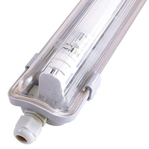 proventa® LED-Feuchtraumleuchte 120 cm | IP65 | mit LED-Röhre | 4.000 K | 18 W | 1.800 Lumen | Kunststoff grau | Energieklasse A+