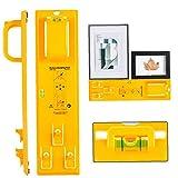 Cuadro colgado de herramientas con nivel fácil Marco de imagen Percha Kit de fijación mural (amarillo)