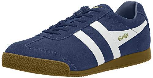 Gola Herren Harrier Suede Sneaker, Blau (Baltic/white Hw), Gr. 43
