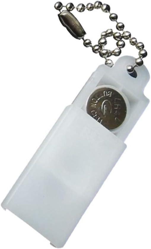 DOITOOL 5Pcs Hearing Aid Battery Case Keychain Convenient Mini P