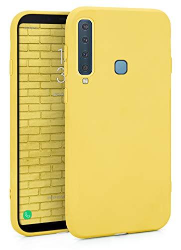 MyGadget Funda para Samsung Galaxy A9 2018 en Silicona TPU - Carcasa Slim & Flexible - Case Resistente Antigolpes y Antichoques - Ultra Protectora - Amarillo