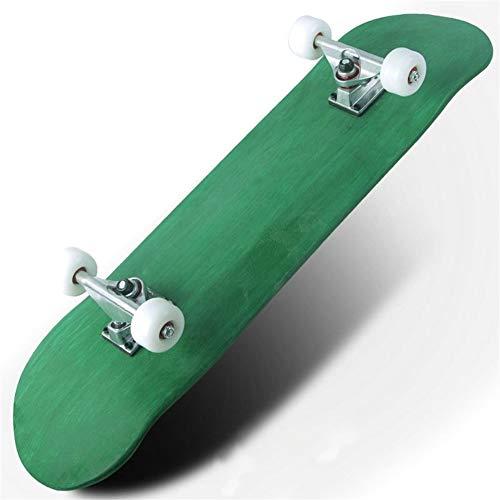 Yuanyuanliu Solide Rauschen Anfänger Skateboard Brush Street Straße Jugendliche Erwachsenen Roller Professionellen Roller Vier Doppel Alice (Color : Green)