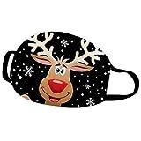 Fenverk Weihnachtsmann Schneemann Mundschutz Rentier Mundnaseschutz Weihnachten Mund und Nasenschutz Waschbar Wiederverwendbar Multifunktionstuch Atmungsaktiv Staubschutz Stoffmundschutz Xmas Bandana
