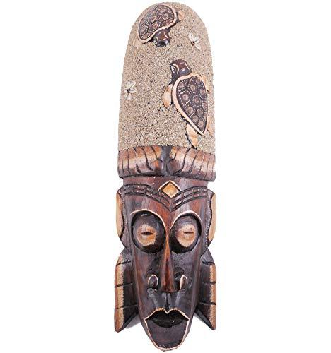 Coco Papaya - Máscara exótica, 50 cm, diseño de tortugas, arena y conchas Cauris