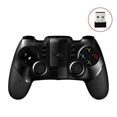 CSZH Drahtloser Controller Bluetooth Gamepad-Prüfer-Android-iOS-Steuerknüppel mit ausdehnbarem Telefon-Halter und drahtloser Empfänger 2.4G