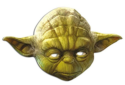 Party-Maske aus hochwertigem Karton Funny Masks Celebrity Pappe , Namen:Yoda