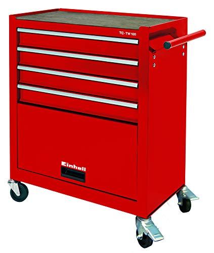 Einhell 4510170 TC-TW 100 - Carrito de herramientas con capacidad máx. de carga 75 kg, rojo, 67 x 38 x 72.4 cm