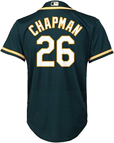Matt Chapman Oakland Athletics #26 Green Youth Cool Base Alternate Replica Jersey (Medium 10/12)