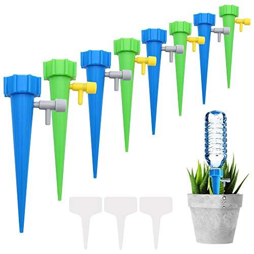 NewZC 10 Stück Automatisch Bewässerung Set 2 Farben Automatisch Bewässerungssystem mit Steuerventilschalter Tropf Bewässerungssystem für Topfplanzen Garten Zimmerpflanze Blumen-Innendurchmesser 2,8cm