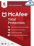 McAfee Total Protection 2021 | 6 Devices | 1 Year | PC/Mac/Android/Smartphones | Download Code