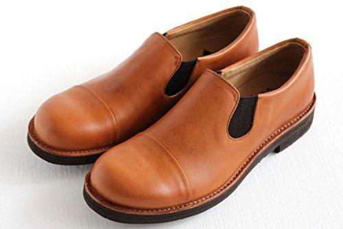 [ムカヴァ] キャップトゥスリッポンシューズ MU-968 brown(ブラウン) (23cm)