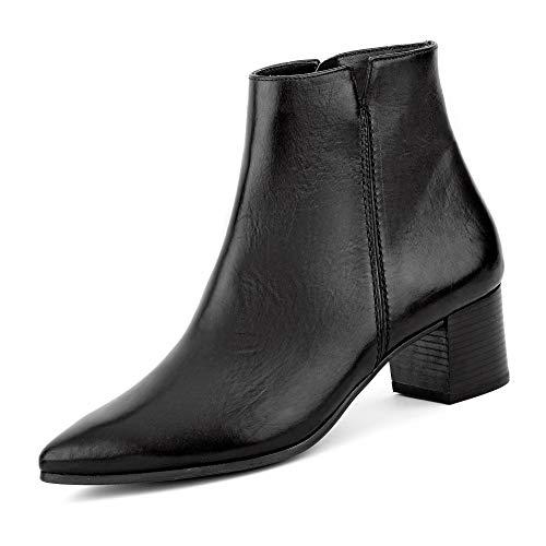 Paul Green 9618 015 Dames klassieke laarzen van glad leer met lederen voering