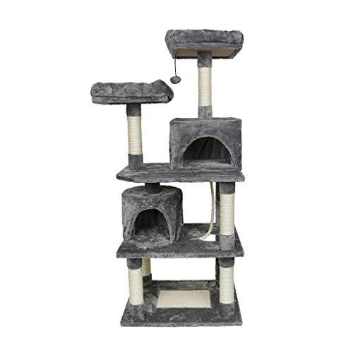 YLHXYPP Juguete para Saltar para Gatos con Escalera Rascador de Madera Árbol trepador para Gatos Marco de Escalada Muebles para Gatos Poste rascador Suministros para...