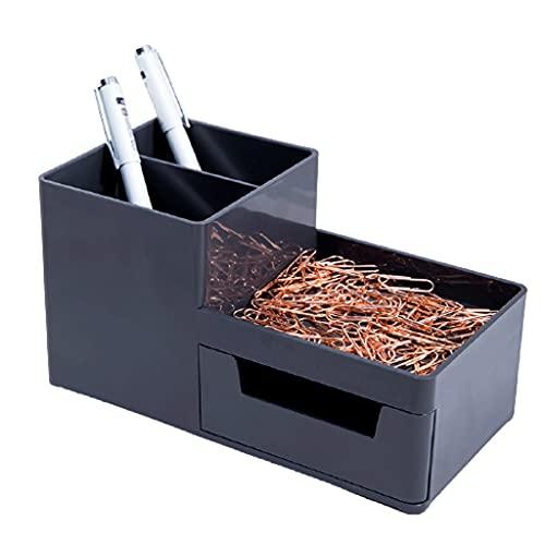 FXJ Organizador de Escritorio de Oficina, con cajón, Almacenamiento de Escritorio, Porta y lápiz para el hogar y la Oficina (Color : Gris, tamaño : 6.8X3.5X3.5inch)