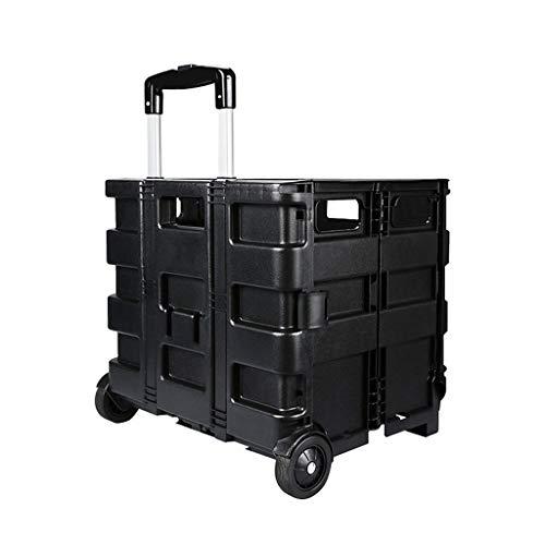 ARQG Organizador del maletero del coche Carretilla plegable de plástico para compras...