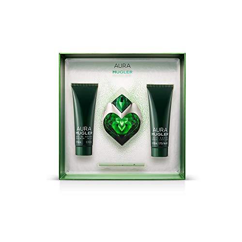 Thierry Mugler Aura 30ml Eau de Parfum Spray & 7 ml Parfum Brush 50ml Bodylotion
