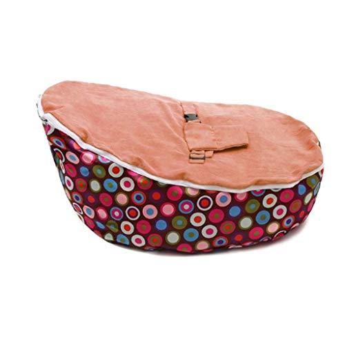JJZXT Bolsa de Frijol de Silla de bebé Suave (sin Acolchado) Colcha para sofá bebé con cinturón de Seguridad (Color : B)