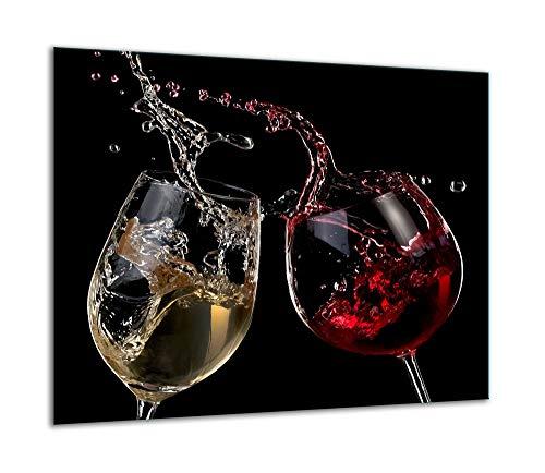 TMK - Placa protectora de vitrocerámica 60 x 52 cm 1 pieza cocina eléctrica universal para inducción protección contra salpicaduras tabla de cortar de vidrio templado como decoración Vino