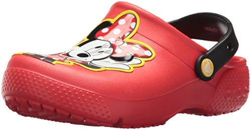Crocs Fun Lab Minnie Clog Kids, Zuecos para Niñas, Rojo (Flame), 20/21 EU