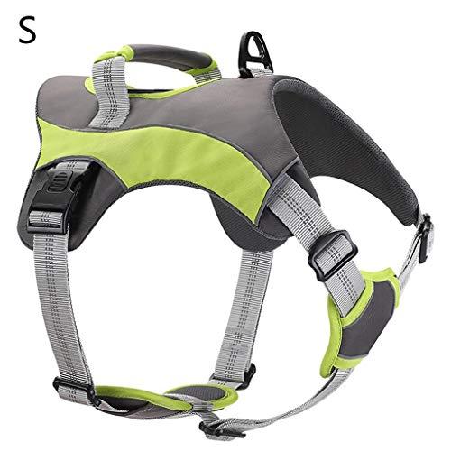 MIK Pet Dog Walk Out Hundegeschirr, verstellbar, atmungsaktiv, Netz-Halsband, reflektierend, für kleine und mittelgroße Hunde