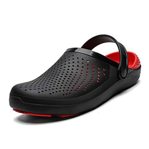 Mode Palm Sandalen Voor Heren Hole Schoenen Man Ademende Strand Sandalen Voor Heren Tuin Klompen Tuin Schoenen Slides Zachte Bodem 13 Rood