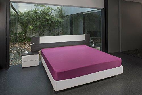Bsensible Tencel Drap housse protecteur pour lit articulé au tête Fuchsia 90+90 x 200