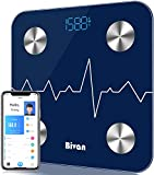 Body Fat Scale, Smart BMI Bluetooth Scale Digital Bathroom Health Monitor Accurately Tracks 15 Key Composition Analysis, Weight, Heart Rate, High Precision, Unlimited Users