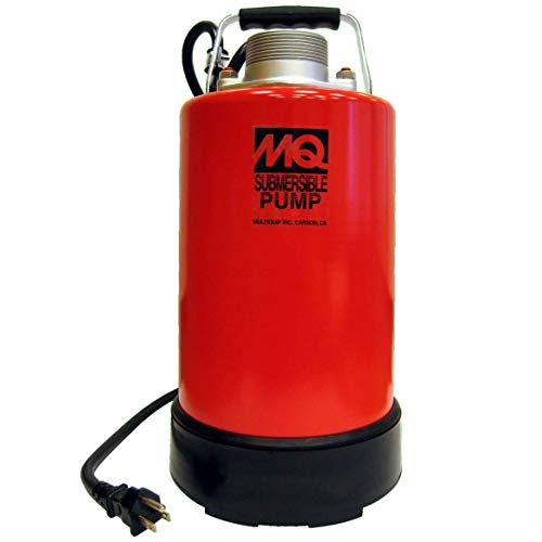 """Multiquip ST2038P Electric Submersible Centrifugal Pump with Single Phase Motor, 1 HP, 60 GPM, 2"""" Suction & Discharge"""