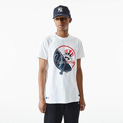 New Era MLB NEW YORK YANKEES Split Graphic Tee T-Shirt, Größe:XXL