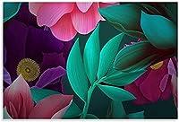 絵画 インテリアアート絵画カラフルな抽象的な花のポスター装飾絵画絵画 60x90cm x1 フレームレス