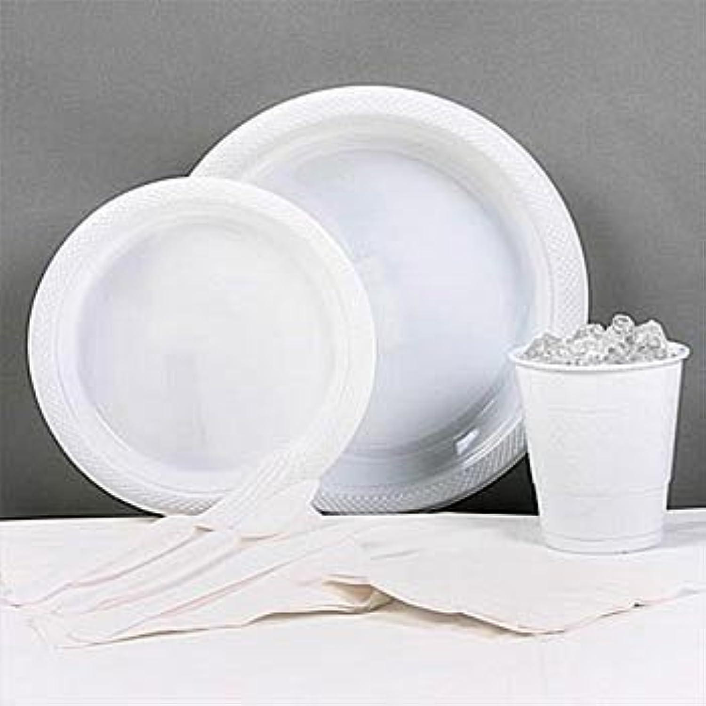 para mayoristas ShindigZ blanco Plastic Party Pack Pack Pack For 20 by  precio al por mayor