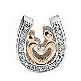 EVESCITY - Abalorios de Plata de Ley 925 para Pulseras de Abalorios joyería para Mujeres