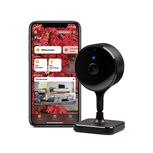 Eve Cam - Smarte Innenkamera, 1080p-Auflösung, WLAN, 100{75d850523ea39bfe97738756395ddd4f5100a0ca8d653075f95968edae8229ae} Privatsphäre, HomeKit Secure Video, Mitteilung auf iPhone, Bewegungsmelder, Mikro & Speaker, Nachtsicht, flexible Installation (HomeKit)