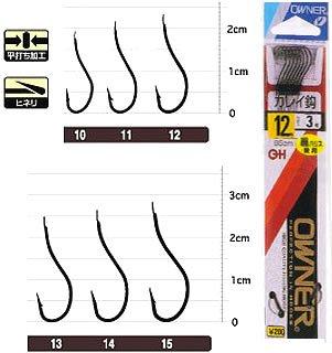オーナー針 OHカレイ(糸付) 黒 13号-4 21433