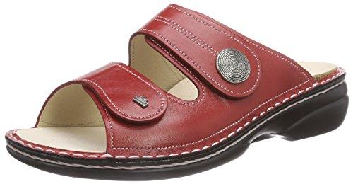 Finn Comfort Damen Sansibar Pantoletten, Rot (Red), 38 EU