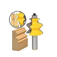 """ドリル 5PCS木工カッターパワーツール用1/2"""" シャンク建築超硬成形ルータービットトリミング木材フライス プロのツール"""