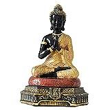 perfeclan Estatua de Buda, Figura Decorativa de Buda meditando para el hogar, Oficina, Escritorio, Sala de Estar Espiritual, decoración de jardín al Aire Libre - Oro