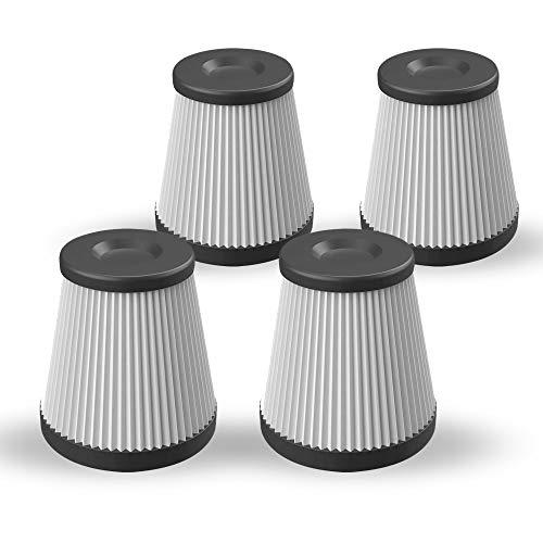 MONDZUCKER 4 Stück Ersatz-HEPA-Filter für VX Handstaubsauger, Zweijährige Nutzung (weiß)