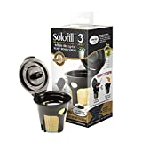 SFILK3GOLD - Solofill K3 GOLD CUP 24K Plated Refillable Filter Cup for Keurig