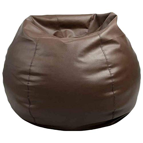 Cozy Signature Bean Bag Cover Without Bean Brown Leather...