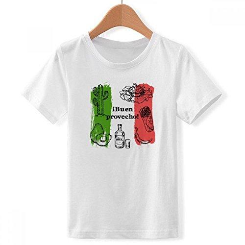 DIYthinker México Cocina boceto Bandera de Cactus Redondo con Cuello Redondo de...