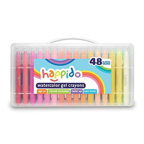 Happido Watercolor Gel Crayons - 48 PC Set